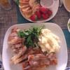 2015年の家族会「鶏モモ肉のコンフィ」